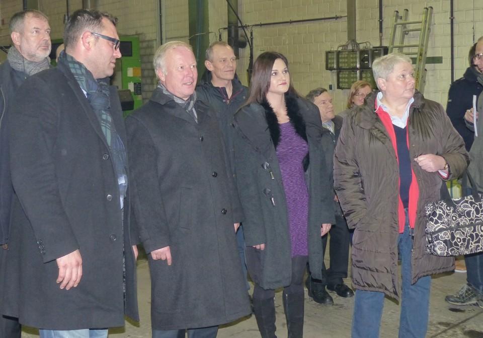 v.l.n.r. K&R-Geschäftsführer Eduard Rudi, den Bundestagsabgeordneten Peter Weiß, K&R-Geschäftsführerin Olesja Rudi und die Lahrer CDU-Stadtverbandsvorsitzende Annette Korn.
